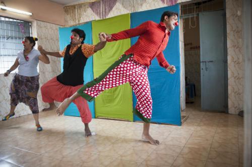 Clowns Sans Frontières © Pascal Reynaud - Inde 2012