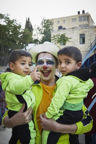 Clowns Sans Frontières © Christophe Raynaud de Lage - Palestine 2018
